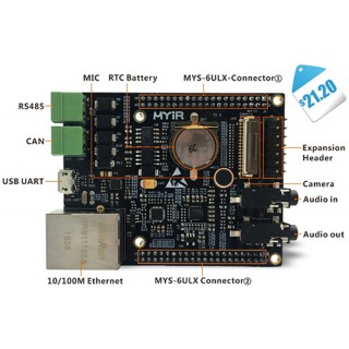 MYB-6ULX Expansion Board for Single Board Computer